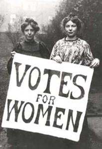 Suffrage: Women wanting equal Rights
