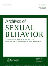 Archives of Sexual Behavior (Peer Reviewed Scientific Research Publication by Springer)