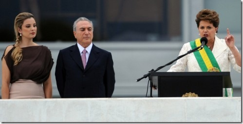 Marcela Temer- Vice President Michel Temer - Dilma Toussef