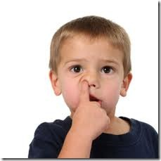 embarrassing nose-picking photo. Might haunt the kid once he becomes president or senator