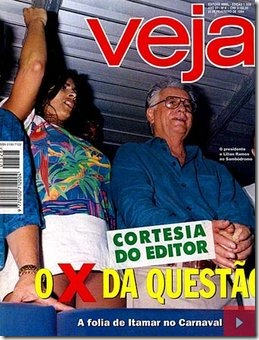 Brazilian President with panty-less woman 1994