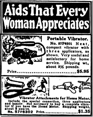 Sears Vibrator Advertisement (1918)