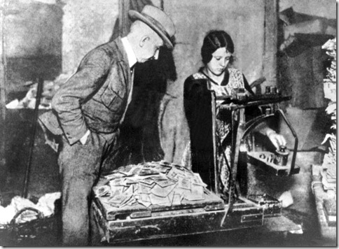 Germany is still haunted by the memory of the hyperinflation of the 1920s. That's one reason why many Germans are so opposed to printing money to solve the euro crisis.