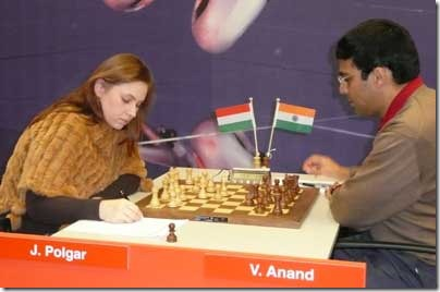 The only women that can compete against male world elite: Polgar J Corus 2008 R 7