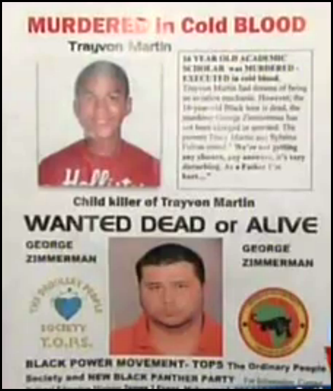 Wanted dead or alive george zimmerman
