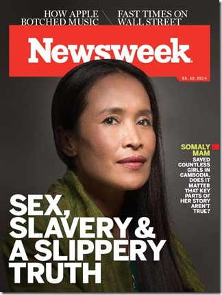 Somaly Mam Sex Slavery Hoax ---NewsWeek20140523cover600x800