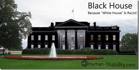 "Black House! Because ""White House"" is racist."
